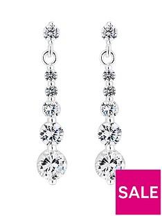 simply-silver-silver-cubic-zirconia-graduated-drop-earrings