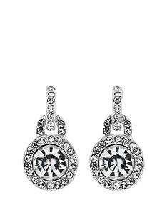 mood-silver-crystal-door-knocker-stud-earrings