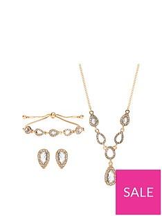 jon-richard-gold-pear-pave-trio-jewellery-set