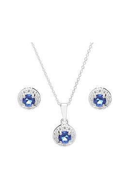 simply-silver-blue-cubic-zirconia-halo-jewellery-set