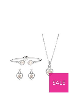 jon-richard-silver-plated-cream-pearl-crystal-infinty-heart-trio-jewellery-set