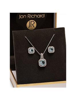 jon-richard-aqua-square-drop-pendant-and-earring-set