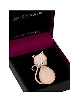 jon-richard-peach-crystal-stone-cat-brooch