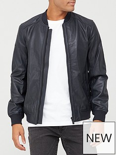 superdry-leather-light-bomber-jacket-navy