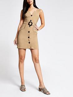 river-island-belted-pinafore-dress-beige