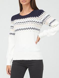 v-by-very-embellised-fairisle-jumper-whitepink