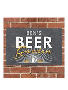 personalised-beer-garden-metal-plaque