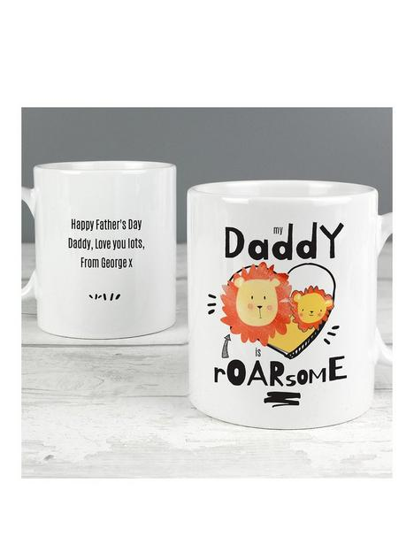 the-personalised-memento-company-personalised-my-daddy-is-roarsome-mug
