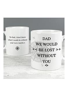 personalised-dad-wed-be-lost-without-you-mug