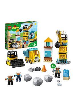 Lego Duplo 10932 Wrecking Ball Demolition Crane, Truck  Bulldozer