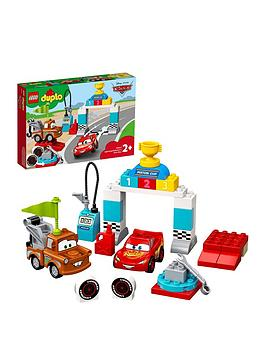 Lego Duplo 10924 Cars Lightning Mcqueen'S Race Day 2In1 Disney  Pixar