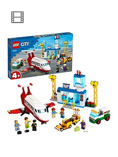 LEGO City 60261 Central Airport Passenger Plane, Fuel Truck & Pilot Best Price, Cheapest Prices