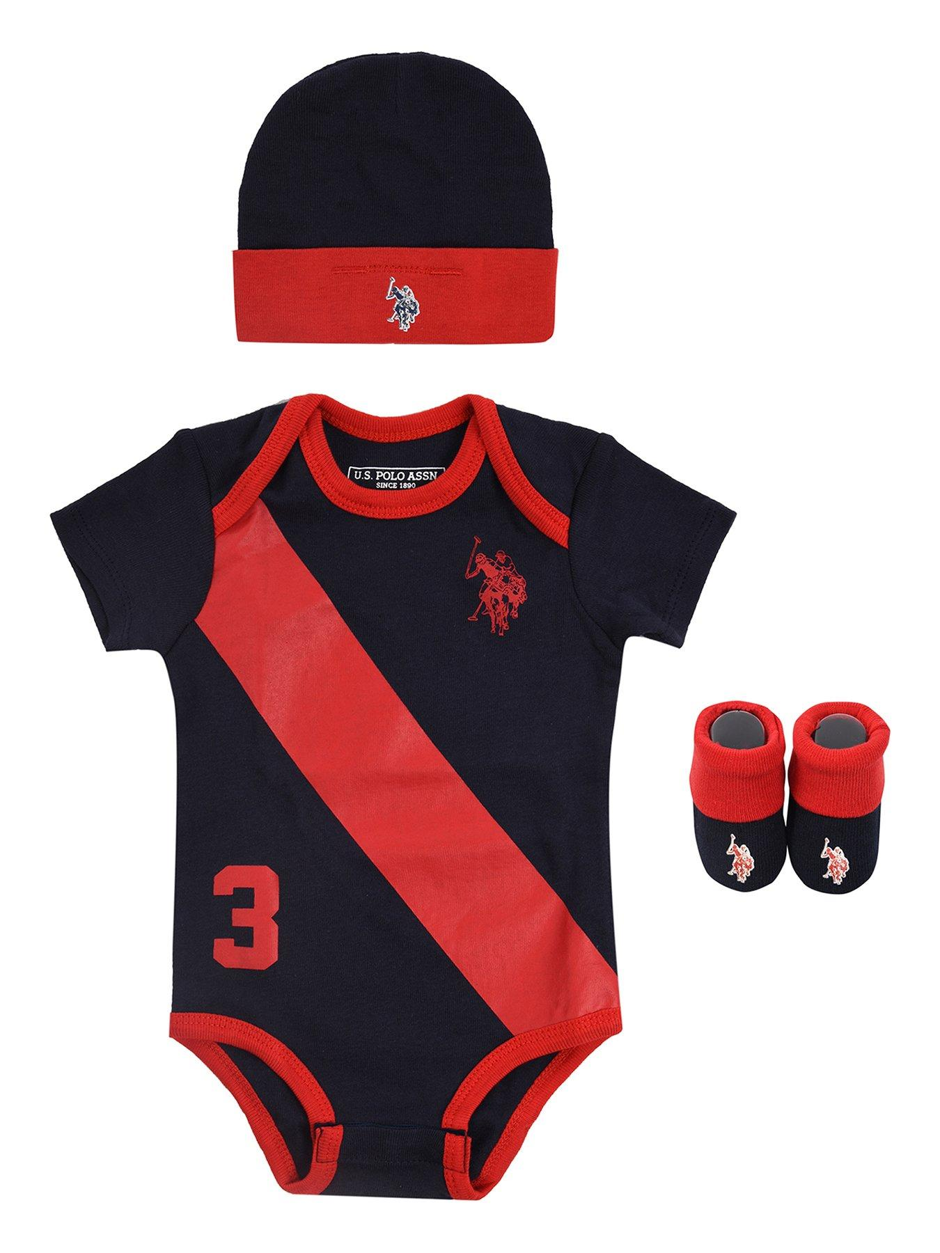 PUMA Baby Boys Short Sleeve Bodysuits Red//Blue