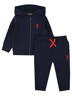 us-polo-assn-baby-boys-core-zip-through-sweat-set-navy