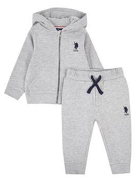 us-polo-assn-baby-boys-core-zip-through-sweat-set-grey