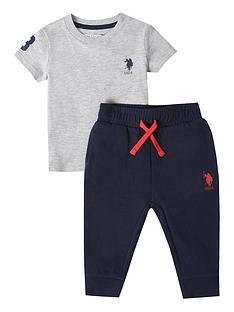 us-polo-assn-baby-boys-player-3-tee-and-jogger-set-vintage-grey