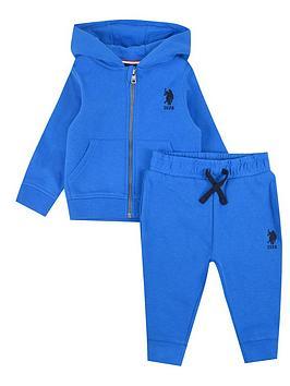 us-polo-assn-baby-boys-core-zip-through-sweat-set-blue
