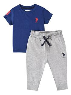 us-polo-assn-baby-boys-player-3-tee-and-jogger-set-blue