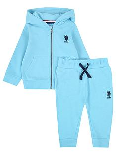 us-polo-assn-baby-boys-core-zip-through-sweat-set-aqua