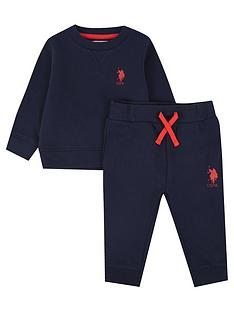 us-polo-assn-baby-boys-player-crew-sweat-set-navy