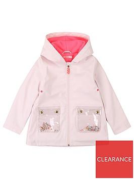 billieblush-girls-fleece-lined-patch-pocket-raincoat-pale-pink