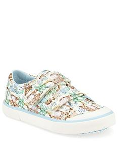 start-rite-girlsnbspescape-multi-animal-canvas-strap-plimsoll-multi