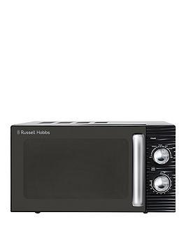 Russell Hobbs Rhm1731 Inspire Black Compact Manual Microwave