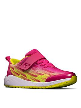 clarks-kidnbspaeon-pace-lace-trainer-pink-lime