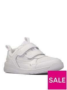 clarks-kidnbsporbit-sprint-strap-and-lace-trainer-white