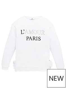 v-by-very-girls-lamour-paris-longline-ruffle-sweat-top-ivory