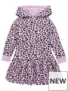 v-by-very-girlshooded-sweater-dress-animal-print