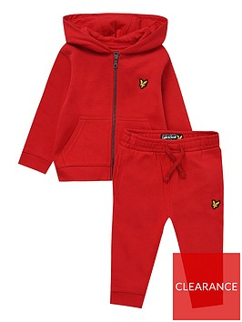 lyle-scott-toddler-boys-hoodie-and-jog-pant-set-red