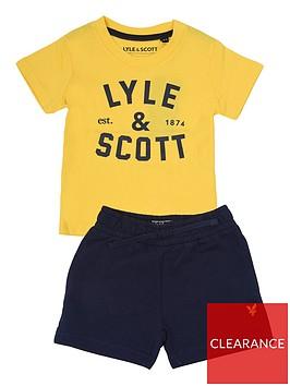 lyle-scott-toddler-boys-t-shirt-and-short-set-yellow
