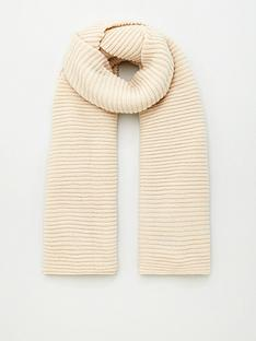 v-by-very-knitted-rib-scarf-cream