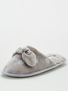 v-by-very-wina-polka-dot-mule-slippers-grey