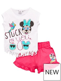 minnie-mouse-girls-minnie-mouse-tassel-top-amp-short-set-white