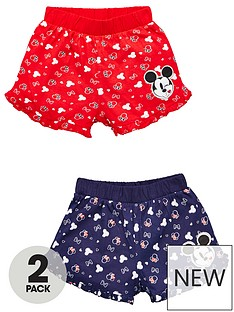 minnie-mouse-girls-minnie-mouse-2-pack-all-over-print-shorts-multi