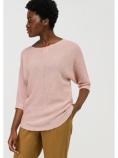 monsoon-verity-100-linen-jumper-pink