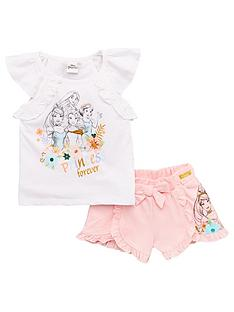 disney-princess-girls-disney-princess-frill-top-ampnbspshort-set-white