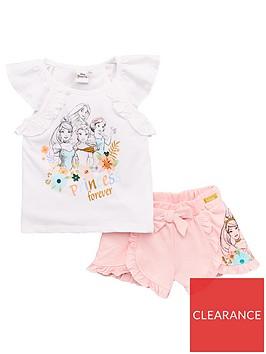 disney-princess-girls-disney-princess-frill-top-ampnbspshort-set-white