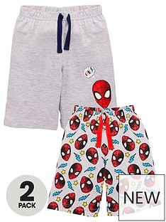 spiderman-boysnbsp2-pack-tie-waist-shorts-multi