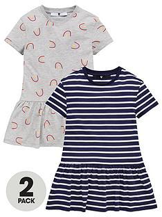 v-by-very-girls-2-pack-stripe-and-rainbow-print-peplum-tops-multi