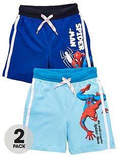 spiderman-boy-spiderman-2-pack-side-stripe-shorts-blue