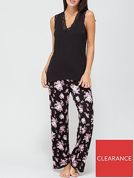 v-by-very-lace-wide-strap-cami-pj-set-print