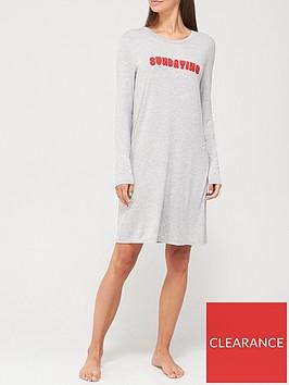 v-by-very-long-sleeve-flocked-jersey-night-dress-grey-marl