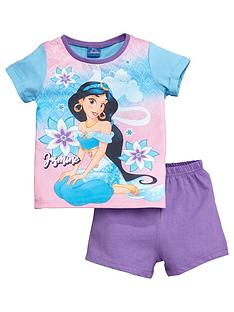 disney-aladdin-girlsnbspjasmine-shortie-pyjamas-purple