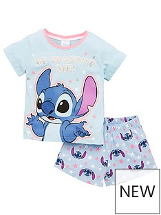 character-girls-disney-lilo-and-stitch-shortie-pjs-blue