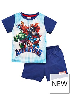 marvel-boysnbspavengers-shortie-pjs-blue