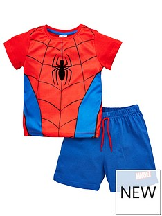 spiderman-boysnbspnovelty-shortie-pjs-red