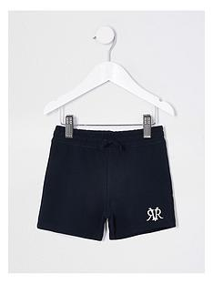 river-island-mini-boys-rvr-shorts-navy
